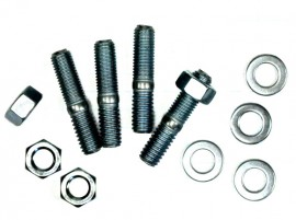 Carburetor Studs - Bright Zinc - Correct Length for Individual or Paired Spacers & Shields